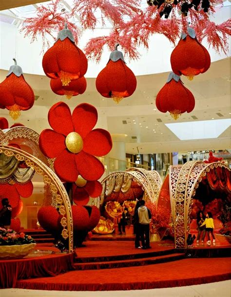 festive display   elements shopping mall chinese