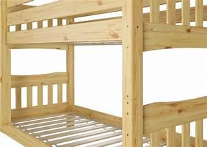 Hochbett Holz 90x200 : etagenbett kiefer natur massivholzbett 90x200 stockbett hochbett rollroste ni70 ~ Frokenaadalensverden.com Haus und Dekorationen