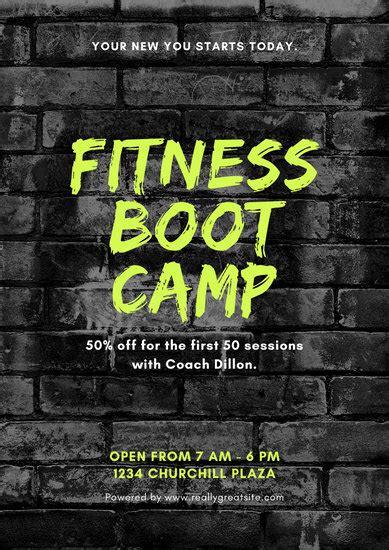 customize  gym poster templates  canva
