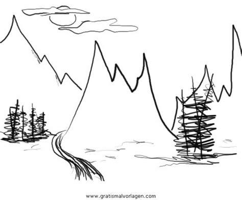 berg berge bergen  gratis malvorlage  diverse