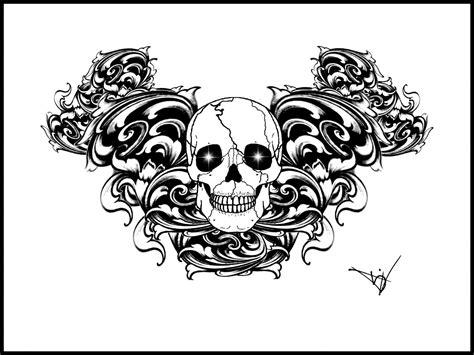 Armband Tattoo Designs Gothic Skull Tattoo Protection