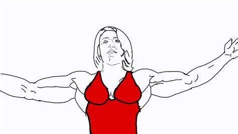 The Flexy Girl In The Red Dress By Kinnikunikuku On Deviantart