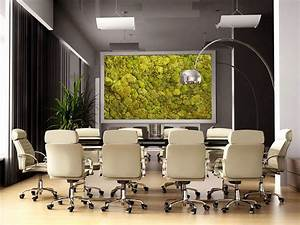 Moss walls the newest trend in biophilic interiors for Office interior decoration items