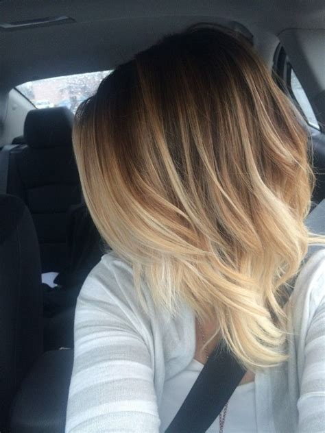 This Creamy Blonde Balyage Ombre Is A Great Low Maintaince
