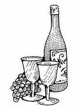 Vino Vin Colorear Coloriage Dibujo Colorare Disegno Kleurplaat Coloring Wein Malvorlage Fiasco Wijn Dessin Bouteille Pintar Wine Bottiglia Disegni Dibujos sketch template