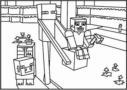 Minecraft Coloring Creeper Printable Herobrine Getcolorings Mine