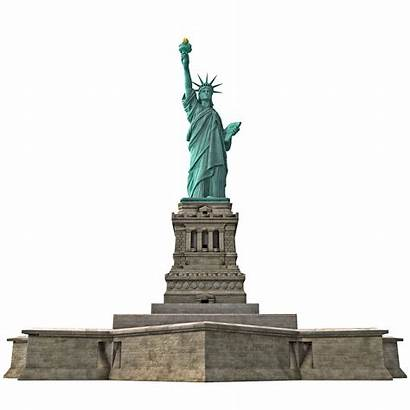 Liberty Statue Transparent Poly 3d Low Background
