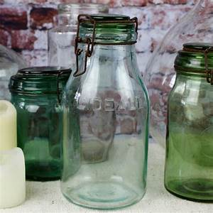 Grand Bocal Verre : bocal conserver ingr dients l ideale en verre vert ~ Premium-room.com Idées de Décoration