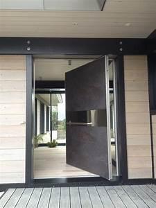 Porte D Entrée En Bois Moderne : porte d 39 entr e covermetal ~ Nature-et-papiers.com Idées de Décoration