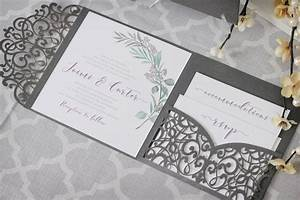 olive branch tuscan wedding invitations with laser cut With average cost wedding invitations canada