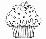 Cupcake Coloring Pages Cupcakes Cake Cartoon Muffin Chocolate Cup Drawing Strawberry Printable Nice Printables Simple Getdrawings Dipped Netart Shopkins Royal sketch template