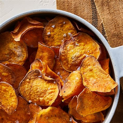 fryer potato chips air sweet recipes recipe healthy potatoes fry sliced homemade fries slices crispy eatingwell vegetable vegan oil thinly