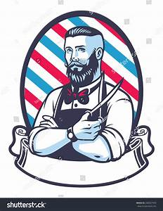 Retro Illustration Of Barber Man - 248507959 : Shutterstock