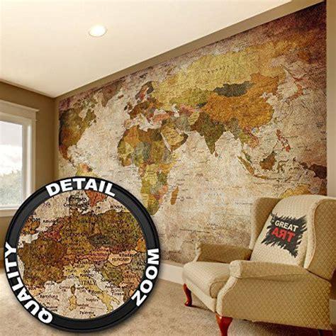 Papier Peint Carte Du Monde Gold by World Map Photo Wallpaper Vintage Retro Motif Xxxl World