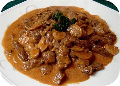 boeuf stroganoff recette facile pour votre plat  la maison