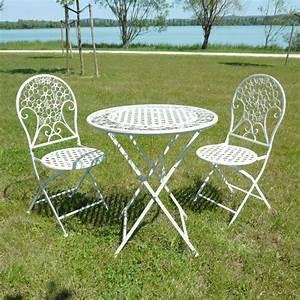 Table Fer Forgé Jardin : table de jardin fer mobilier de jardin pliant maison email ~ Teatrodelosmanantiales.com Idées de Décoration