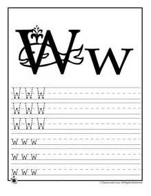 Letter W Worksheets Preschool