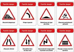 Panneau De Signalisation Code De La Route : jeu des 5 familles de panneaux de signalisation routi re famille danger aze pinterest ~ Medecine-chirurgie-esthetiques.com Avis de Voitures