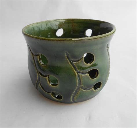 Candle Holder With Holes by Pottery Candle Holder Ceramic Candle Holder Luminaries