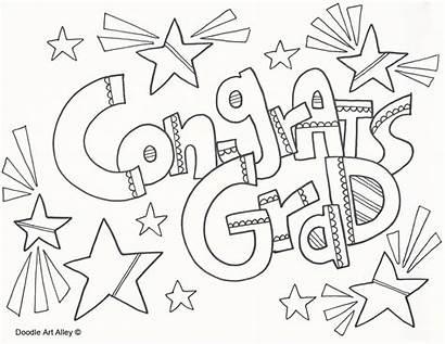 Graduation Coloring Congratulations Doodle Colouring Printable Graduate