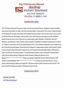 Kip 7100 Service Manual By Genia Guziak