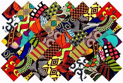 African Patterns Fabric Patchwork Quilting Squares Quilt