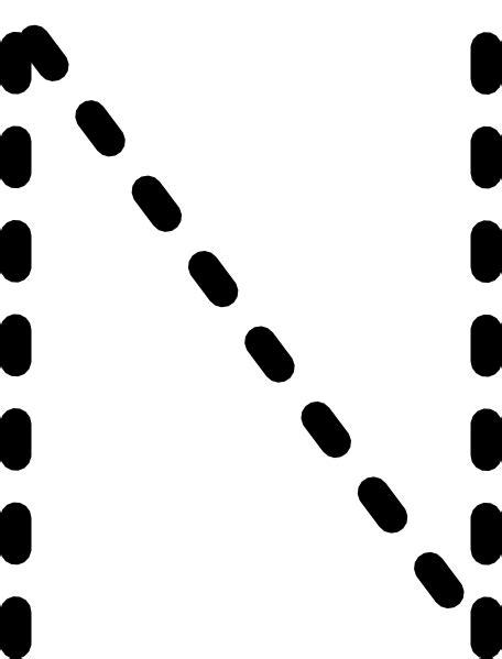 Alphabet Tracing Letter N Clip Art at Clker.com - vector