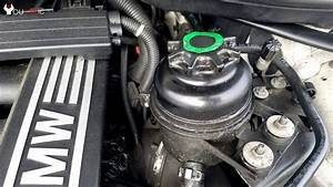 How To Check  Add Power Steering Fluid Bmw 3