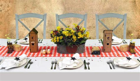 country western theme dinner decorating rustic cowboy