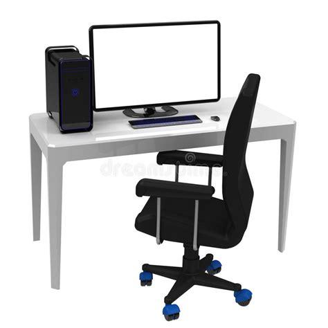 bureau travail a vendre le poste de travail bureau images libres de droits