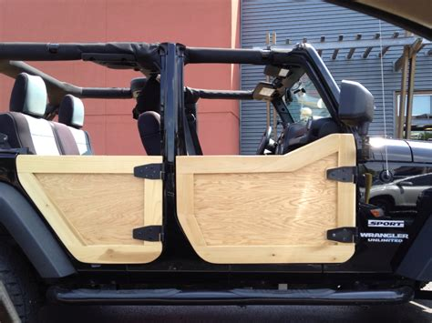 jeep wood box custom wooden doors on jeep wrangler tj life pinterest