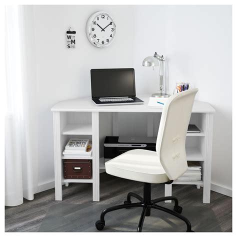 white desk ikea brusali corner desk white 120x73 cm ikea