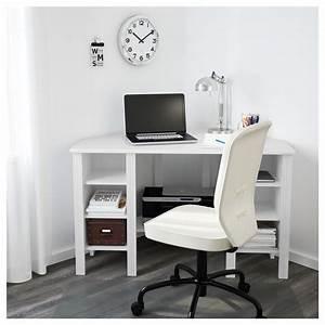 Ikea Bureau Angle : brusali bureau d 39 angle blanc 120 x 73 cm ikea ~ Melissatoandfro.com Idées de Décoration