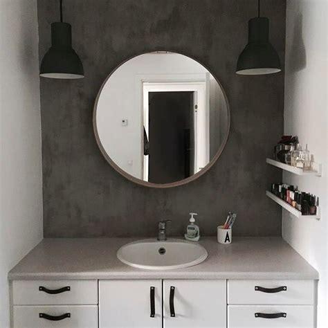 bathroom   concrete  wall  ikea stockholm