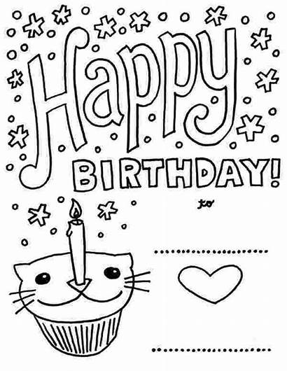 Birthday Coloring Printable Happy Pages Cake Sheets