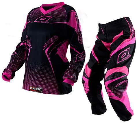 motocross jerseys and pants oneal 2012 element pink ladies womens girls motocross