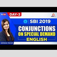 Sbiibps 2019  Conjunctions  English  Nimisha Ma'am  100 Pm Youtube