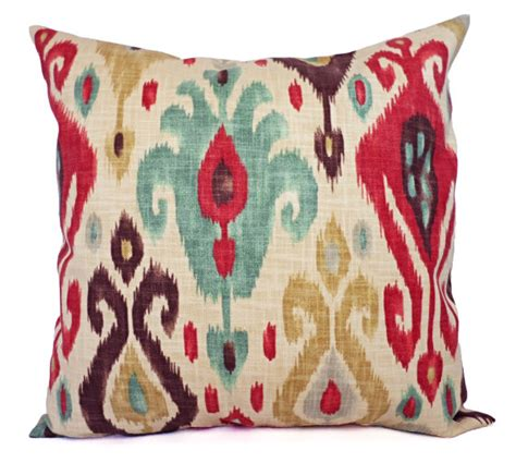 etsy pillow covers two ikat decorative pillow covers and brown ikat