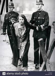 Suffragette arrested by police during a protest for women ...