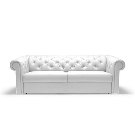 canapé convertible rapido chesterfield cuir blanc achat