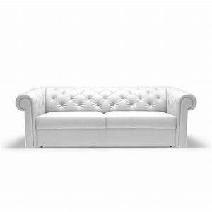 canape convertible rapido chesterfield cuir blanc achat With canape convertible cuir blanc