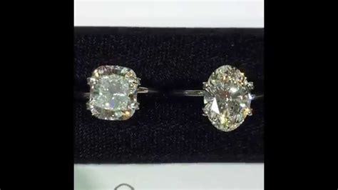 carat oval cushion  square emerald loose diamonds comparison youtube