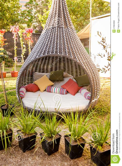 Cool Furniture For The Garden Stock Photo - Image: 27684958