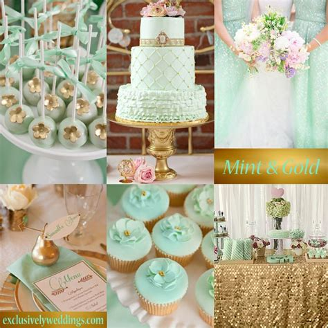 1000 Images About Mint And Gold Wedding Decorations On