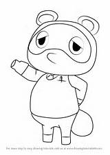 Nook Crossing Tom Animal Coloring Drawing Pages Draw Template Sketch Step sketch template