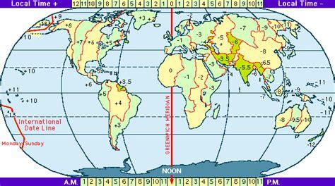 Mappa Con I Fusi Orari Mondiali