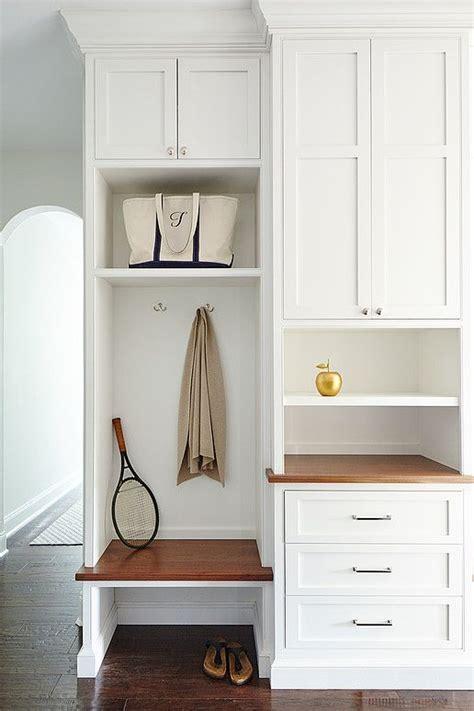 built in mudroom bench 32 small mudroom and entryway storage ideas shelterness