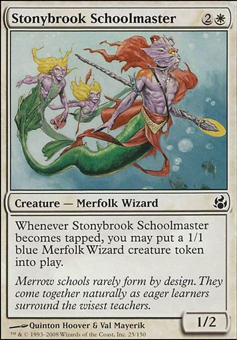 Mtg Merfolk Deck Tapped Out by Stonybrook Schoolmaster Mor Mtg Card