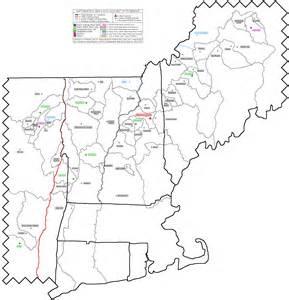 Blank Northeastern States Map