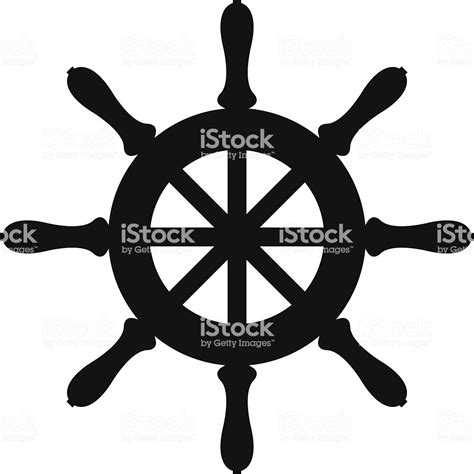 Boat Wheel Outline by Silhouette Of Sailboat Steering Wheel Stock Vector Art